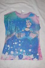 Girls Sweater Tee CINDERELLA Princess Castle BLUE PURPLE Lt Weight XL 14-16