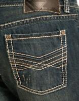 ROCK & N ROLL Cowboy Mens Pistol Low Rise Regular Straight Leg Jeans M1P2411 NWT