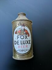Vintage Fox De Luxe Beer Brand Cone Top Beer Can 12oz