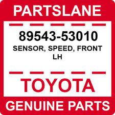 89543-53010 Toyota OEM Genuine SENSOR, SPEED, FRONT LH