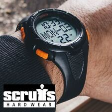 Scruffs Digital Watch For Work/Sports/Fitness Activity Tracker Pedometer Black