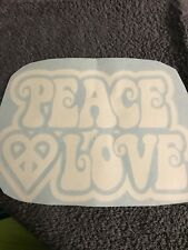 Peace And Love Vinyl Sticker Hot Pink Or White Decal