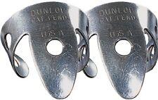 Un Paio di Dunlop 33r.025 Nichel Argento Finger Picks .025 Plettri (2)