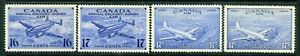 Weeda Canada CE1-CE4 VF MNH set of Airmail Special Delivery issues CV $34.50