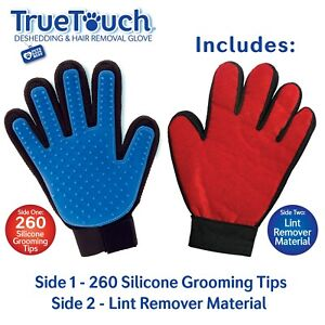 TRUE TOUCH 2 Sided Red Blue Deshedding Grooming Lint Remover Hair As seen on TV