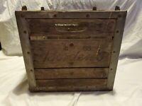 Bordens Milk Erie Crate 4-65 Wood Metal Engraved Heavy Vtg Decor Storage