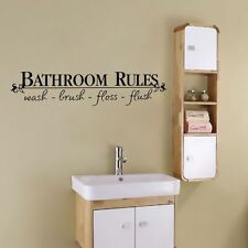 "Home Art Wall Quote Stickers ""Bathroom Rules"" Bathroom Decals Funny New Decor"