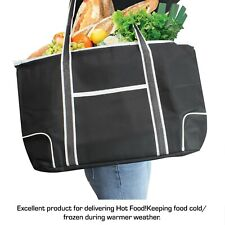 Large Insulated Grocery Bag Shopping Tote Thermal Cooler Zipper closure (2pack)