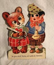 Antique Valentines Card Moving Eyes Animated Germany