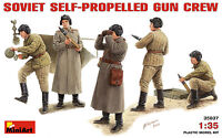 MiniArt 1/35 35037 WWII Sovict Self-Propelled Gun Crew (5 Figures in Box)
