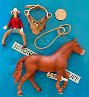 Lot of 4 Schleich Horse Rider/ MORGAN MARE 13870/ western saddle & Bridle TACK