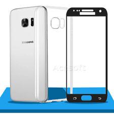 9H Premium Screen Protector Silicone Case for Verizon Samsung Galaxy S7 SM-G930V