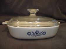 Corning Cornflower 1 Quart Square Covered Casserole Dish P-7-B
