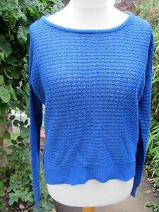 Only-Blue Behaviour - Ladies Blue Knitted Top Size Medium