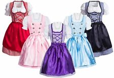 Dirndl Set Trachten Kleid kariert mit Bluse Schürze in 5 Farben NEU