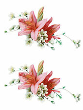 Vintage Image Shabby Victorian White Flower Lily Swag Waterslide Decals Fl337