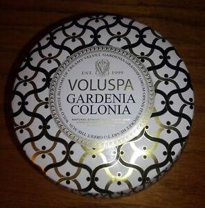 Gardenia Colonia, Voluspa, 2 Wick Round Tin Candle, 11oz