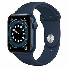 NUEVO Apple Watch Series 6 GPS 44mm Deep Navy Aluminium Case w/ Sport Band M00J3