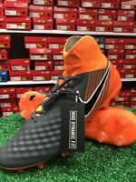 New Nike Obra 2 PRO DF FG Soccer Cleat Grey / Orange Size 11 New In Box