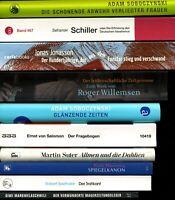 10 Bände★SOBOCZYNSKI★JONASSON★R. WILLEMSEN★SALOMON★SUTER★SAFRANSKI: Schiller u.a