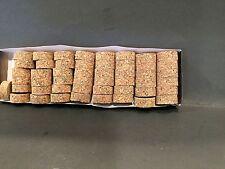 "Cork Rings 36 Burl Mix # 4 , 1 1/4"" x 1/2"" x 1/4"" Hole"