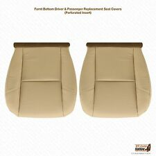 2007 2008 Cadillac Escalade Driver Amp Passenger Bottom Leather Seat Cover Tan