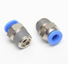 2 pcs Straight Push to Connect 1/4 OD Tube x 1/4 Npt Male Fitting FasPartsUSA