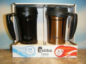 BUBBA 2 PACK INSULATED 18OZ TRAVEL MUGS IN BLACK & ROSE GOLD *NEW*