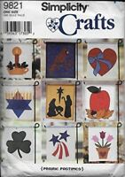Simplicity Sewing Pattern 9821 11 X 13 Inch Appliqued Lawn Flags Christmas Heart