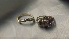 antique 14kt gold - diamond wedding stackable  ring w/ box - size 2.5 - look