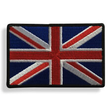 "Embroidered 3"" British UK Flag Union Jack Sew or Iron on Patch Biker Patch"