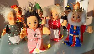 Konvolut, 9 Handpuppen, STEIFF, neuwertig, Puppentheater, Kasper, Figuren, 80er
