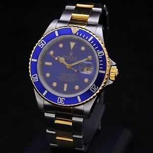 Rolex Submariner steel gold ref 16613 automatic serviced + box