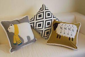 "Art Kids Luxury Bear Sheep Home Decor Cotton Linen CUSHION COVER PILLOW CASE 18"""