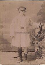 Grèce Greece Grec Portrait dans le studio du photographe Moraitis ca 1870