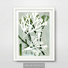 SEASIDE GREEN SEAWEED Art Print Poster Home Decor Room Beach Bathroom Theme Wall