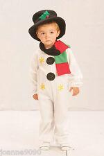 NUEVO niño niña Navidad Muñeco De Nieve Bufanda Y La Parte Superior Sombrero
