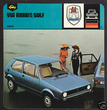 1974 VOLKSWAGEN VW RABBIT GOLF Car 1978 AUTO RALLY CARD