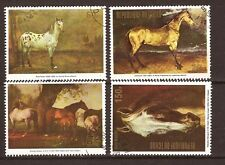 15T2 Rep.du TCHAD Serie complete 4 timbres oblitérés : Les Chevaux