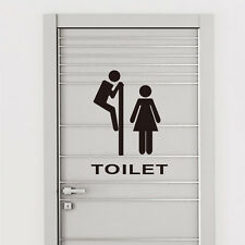 Vinyl Wall Toilet Sticker Art Home Mural Decor Decal Removable Quote Character