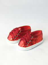 """Red Glitter Sneakers Fits 18"""" American Girl Doll Clothes Shoes"""