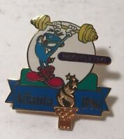 Collectible Atlanta 1996 Izzy Mascot Weightlifting Olympic Pin Summer Games