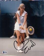 Chris Evert #1  8x10 Signed 8x10 Photo Beckett Certified Tennis-Women  061718