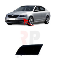 FOR SKODA OCTAVIA (5E) 13-17 NEW FRONT BUMPER HEADLIGHT WASHER COVER CAP LEFT
