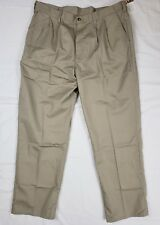Dickies Insect Shield Repellent Mens Khaki Cotton Pleated Work Pants SZ 40X32