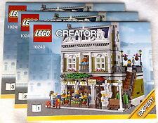 Lego Bauanleitung für 10243 Parisian Restaurant  Hefte 1+ 2 + 3 Neu