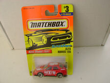 1997 MATCHBOX SUPERFAST #3 RED ALFA ROMEO 155 RALLY CAR NEW ON CARD