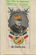 More details for ww1 embroidered silk: french general vicomte de castlenau