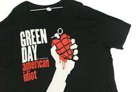Green Day American Idiot Concert Tour Punk Rock Band T Shirt Black Mens 3XL