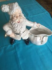 """1978 Atlantic Mold Santa Card/candy Holder 12"""" Tall And Wide"""